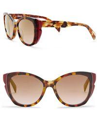 c643c22fec Lyst - Roberto Cavalli Women s Asdu Cat Eye Dark Brown Sunglasses in ...