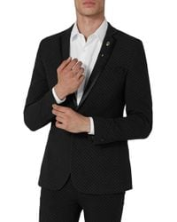TOPMAN - Dotted Ultra Skinny Fit Suit Jacket - Lyst