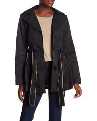 Laundry by Shelli Segal - Hooded Belted Raincoat - Lyst