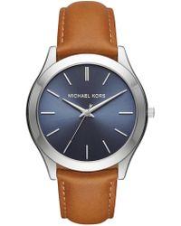 MICHAEL Michael Kors - Men's Slim Runway Leather Strap Watch - Lyst