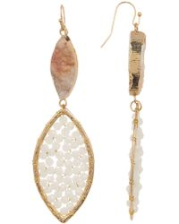 Panacea - Marquise Druzy Crystal Drop Earrings - Lyst