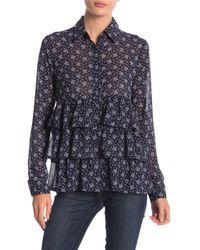 Line & Dot - Adalyn Printed Tiered Ruffle Shirt - Lyst