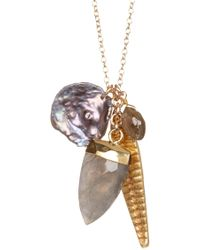 Chan Luu - Mixed Crystal Pendant Necklace - Lyst