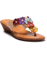 Italian Shoemakers - Giggle Embellished Wedge Sandal - Lyst