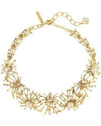 Oscar de la Renta - Radial Crystal Necklace - Lyst