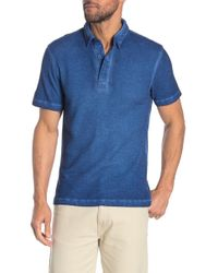 Gilded Age - Solid Bonded Short Sleeve Polo - Lyst