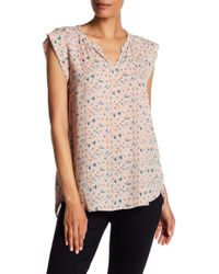 Pleione - Split Neck Blouse - Lyst