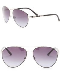 Burberry - 58mm Aviator Sunglasses - Lyst