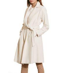Lauren by Ralph Lauren - Wool Blend Wrap Coat - Lyst