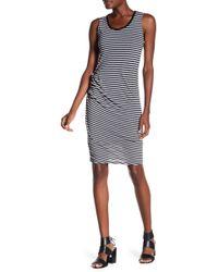 Michael Stars - Striped Crew Neck Dress - Lyst