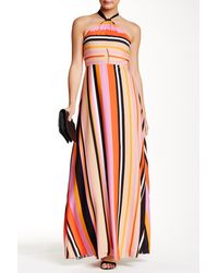 Phoebe - Sleeveless High Neck Cutout Maxi Dress - Lyst