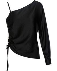 T By Alexander Wang - Asymmetric Drape One Sleeve Top - Lyst