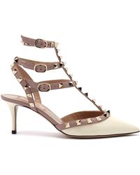 Valentino - 17ss Women's Shoes Rockstud Ankle Strap Light Ivory/poudre - Lyst