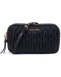 Miu Miu - Camera Bag Doppia Zip Logo - Lyst