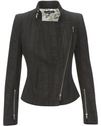df50559fe84 Lyst - Ann Demeulemeester Knit Oversize Jacket in Black