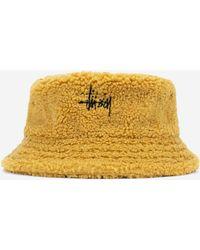Stussy - Sherpa Fleece Bucket Hat - Lyst