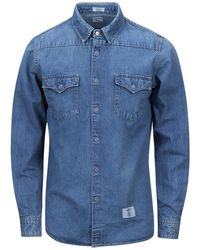 "Bedwin And The Heartbreakers - L/s Denim Westhern Shirt ""pork"" - Lyst"