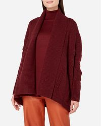 N.Peal Cashmere - Cable Knit Cashmere Cardigan - Lyst