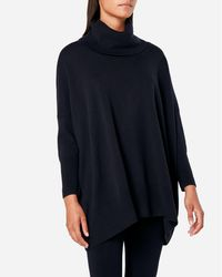 N.Peal Cashmere - Cowl Neck Cashmere Poncho - Lyst