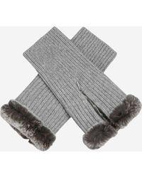 N.Peal Cashmere - Fur Trim Fingerless Gloves - Lyst
