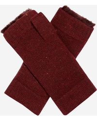 N.Peal Cashmere - Fur Lined Fingerless Cashmere Gloves - Lyst