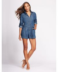 5f2474473aa New York   Company - Zip-front Romper - Gabrielle Union Collection - Lyst