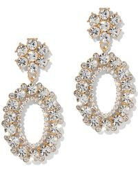 New York & Company - Dazzling Oval Drop Earring - Lyst