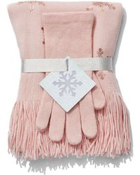 New York & Company - 2-piece Sequin Scarf & Gloves Set - Lyst