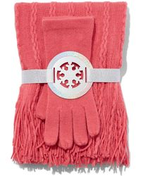 New York & Company - 2-piece Cable-knit Scarf & Gloves Set - Lyst