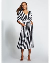 New York & Company - Gabrielle Union Collection - Tall Striped Kimono Dress - Lyst