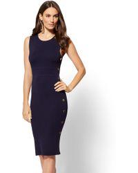 New York & Company - Button-accent Sweater Sheath Dress - Lyst