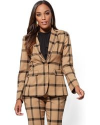 New York & Company - 7th Avenue - Plaid Two-button Jacket - Lyst