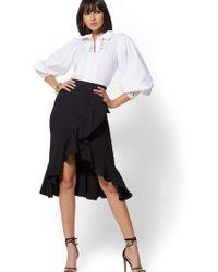 5f8eb471b New York & Company 7th Avenue - Seamed Pencil Skirt - All-season Stretch in  White - Lyst