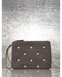 New York & Company - Faux-pearl Fabric Pochette - Lyst