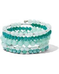 New York & Company - Beaded Coil Bracelet - Lyst