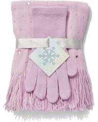 New York & Company - 2-piece Jeweled Scarf & Gloves Set - Lyst
