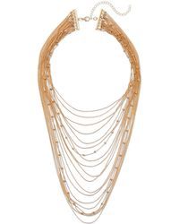 New York & Company - Goldtone Layered Statement Necklace - Lyst