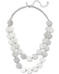 New York & Company - 2-row Disk Necklace - Lyst
