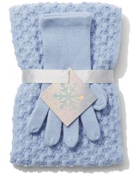 New York & Company - 2-piece Knit Scarf & Gloves Gift Set - Lyst