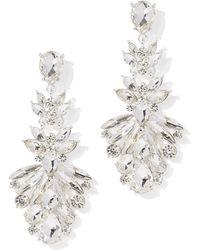 New York & Company - Dazzling Silvertone Drop Earring - Lyst