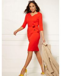 e5ba2f6e38 Lyst - New York   Company 7th Avenue - Draped Twofer Sheath Dress in Red