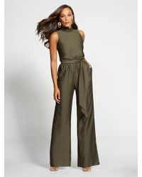 336e96b9f6a New York   Company - Gabrielle Union Collection - Olive Mock-neck Jumpsuit  - Lyst