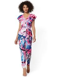 New York & Company - Graffiti Print Utility Jumpsuit - Lyst