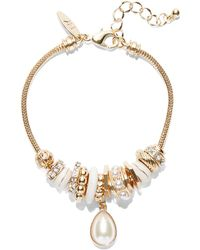 New York & Company - Sparkling Rondelle Stretch Bracelet - Lyst