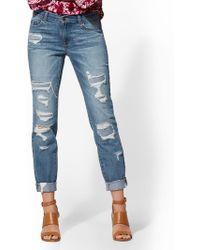 0aeb7792e2db New York   Company - Soho Jeans - Retro Destroyed Curvy Boyfriend Jeans -  Force Blue