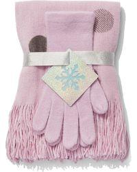 New York & Company - 2-piece Dot-print Scarf & Gloves Set - Lyst