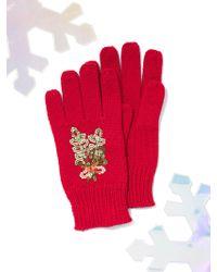 New York & Company - Sequin Mistletoe Gloves - Lyst