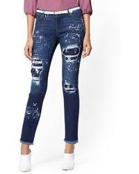 a84c94ef01da New York   Company - Paint-splattered   Destroyed Boyfriend Jeans - Soho  Jeans -