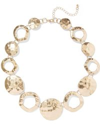 New York & Company - Hammered Disc Statement Necklace - Lyst