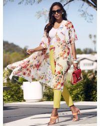 New York & Company - White Floral Kimono Duster - Sweet Pea - Lyst